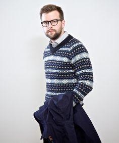Nigel Cabourn Fairisle V-Neck Sweater