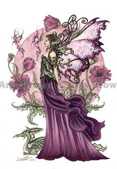 """倫☜♥☞倫   """"Poppy Queen"""" ORIGINAL ART - Watercolor Paintings I - P - Amy Brown Fairy Art - The Official Gallery"""