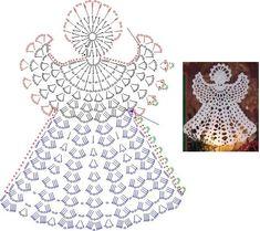 Marque-pages Au Crochet, Crochet Snowflake Pattern, Crochet Angels, Crochet Flower Tutorial, Crochet Stars, Christmas Crochet Patterns, Holiday Crochet, Crochet Snowflakes, Crochet Doily Patterns