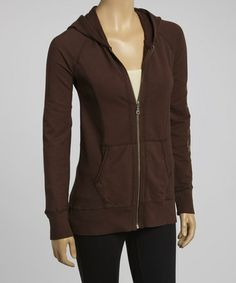 Take a look at this Espresso Jeryca Organic Hoodie by Aventura on #zulily today!