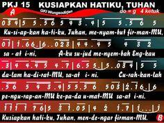 Lirik Lagu dan Not Angka PKJ 015 - KUSIAPKAN HATIKU, TUHAN