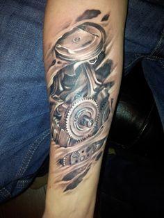 engine parts tattoo
