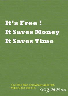 Save Time and Money..!!!