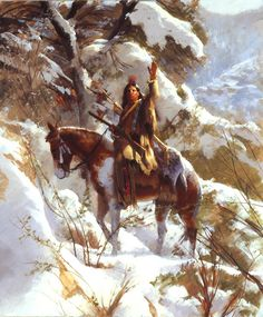 Western Art, Images from the Great West Native American Warrior, Native American Beauty, Native American Tribes, American Indian Art, Native American History, American Indians, Native Americans, Native American Paintings, Native American Pictures