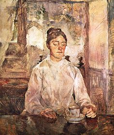 Henri de Toulouse-Lautrec - The mother of Toulouse-Lautrec taking breakfast, 1881-83. Oil on canvas, 81 x 93,5cm. Museum Toulouse-Lautrec, Albi, France