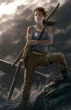 Tomb Raider Reborn Tomb raiders Raiders and Lara croft Gi Joe, Tomb Raider 2013, Andy Park, Video Game Art, Video Games, Pc Games, Tomb Raider Lara Croft, Fanart, Park Art