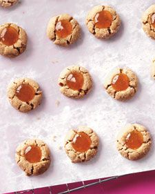 Almond and Apricot Thumbprint Cookies #marthastewart