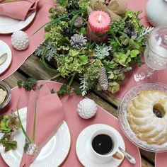 Gedeckter Tisch. Rosa ovale Tischsets: GALA von Sander mit Fleckschutz                                                                                                                                                                                 Mehr