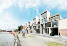 townhouses DMK   kortrijk - Projects - CAAN Architecten / Gent