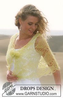 DROPS Loosely knitted shawl in Vivaldi ~ DROPS Design