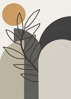 Art And Illustration, Organic Art, Organic Shapes, Minimalist Painting, Minimalist Art, Abstract Line Art, Shape Art, Arte Popular, Aesthetic Art