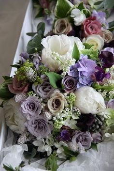vintage mix of whites and purples