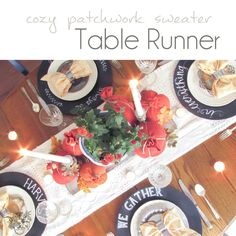 DIY Table Runner out