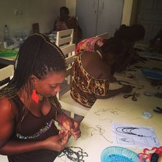 Women at work in Muse Group's Abidjan workshop http://www.musegroup.org/latest/en/team/