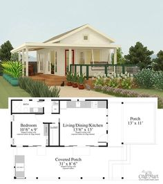 Santa Cruz tiny house floor plan for building your dream home without spending a fortune. SUCH A CUTE POOL HOUSE! FIL AND HUSB CAN BUILDs! Chose from traditional plans to mobile tiny house plans that will allow you to change your lifestyle and be free! Tiny House Loft, Tiny House Living, Tiny House Design, Tiny Guest House, Guest Houses, Living Room, Guest House Plans, Small House Plans, Guest Cottage Plans