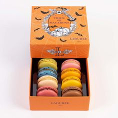 Halloween Collection - Box of 8 Macarons by Ladurée Paris - Goldbelly
