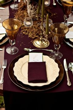 Enchanted Forest Inspired Wedding Reception Tables Design.