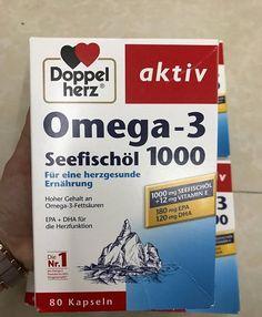 Dầu Cá Đức Omega 3 Doppelherz Seefischol 1000mg Vitamin E Chính Hãng Omega 3 6, Fett, Heart Function, Health