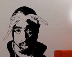 2pac Wall Sticker Tupac Shakur Vinyl Decal Home Interior Decorations Rapper Rap Art Hip-Hop Music Room Bedroom Decor Removable Sticker 3tpa