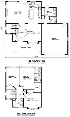 find this pin and more on plans could easily extend garage for storage burlington two storey house plan - Two Storey House Plans