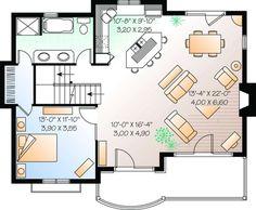 One Level House Plans, Narrow Lot House Plans, Small House Plans, Prefab Homes, Modular Homes, Tiny Homes, Basement House Plans, House Floor Plans, 1000 Sq Ft House