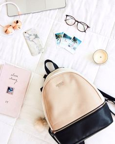 Backpack Mochila Guess Back to school Girly Love Tumblr