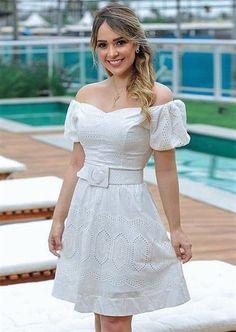 Cute Dresses, Casual Dresses, Short Dresses, Fashion Pants, Fashion Dresses, Eyelet Dress, Outfit Posts, Casual Looks, White Dress