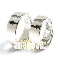 Alianças de Compromisso em Prata 0,950 k    - FA-AG-1007