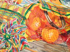 janet fish | Janet Fish, Detail, Cartwheel, 2000, oil on canvas, 42 x 75 inches