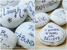 Wishing Stones - Guest Book Alternative -