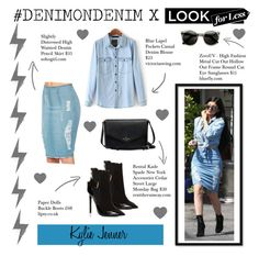 """""""The Look For Less : Denim Edition"""" by tessawarongan on Polyvore featuring Lipsy, ZeroUV, LookForLess, Denimondenim and KylieJenner"""