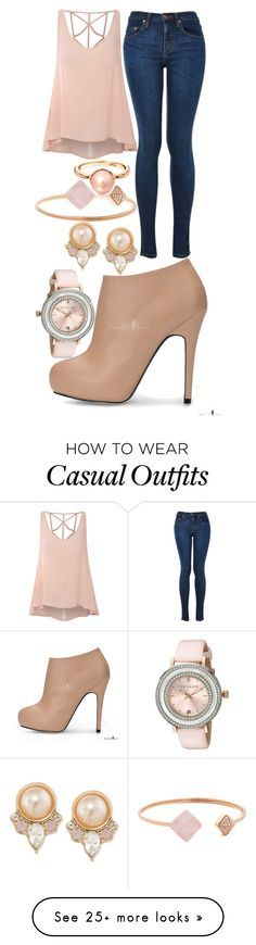 """Cream Casual"" by elli-jane-xox on Polyvore featuring Glamorous, Carolee, Michael Kors and Ted Baker"