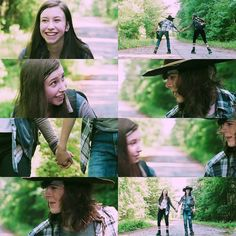 The Walking Dead Season 7 Episode 5 'Go Getters' Carl Grimes and Enid <3