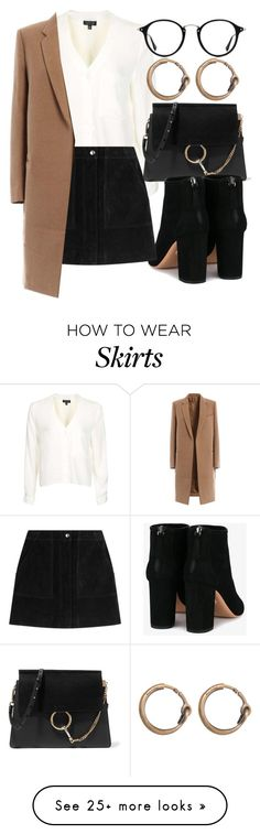 """Untitled #6446"" by laurenmboot on Polyvore featuring Topshop, Chloé, Aquazzura, rag & bone, Ray-Ban and Acne Studios"