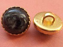 6 kleine Knöpfe 11mm schwarz gold (439)