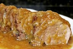 Sirloin in thermomix- Pork tenderloin in Spanish sauce with Thermomix - Pork Leg, Carne Asada, Pork Roast, Pork Recipes, Food To Make, Yummy Food, Favorite Recipes, Food And Drink, Cooking