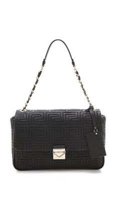 Quilted Leather Shoulder Bag Versace Bagquilted Handbagsquilted