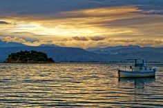 Sunset at Karathonas Beach, Nafplion, Greece