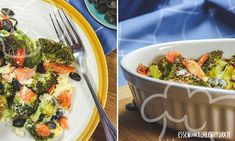 Brokkoli-Lachs-Gratin