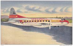 WESTERN Airlines Convair-Liner Airplane PU-1951 Item number: 134145285  - Delcampe.com
