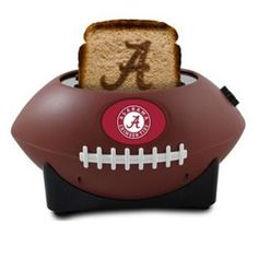 Alabama+Crimson+Tide+2-Slice+Pro+Toaster+-+RODUCT+DETAILS If+the+thought+of+sinking+your+teeth+into+a+homemade+Alabama+Crimson+Tide+sandwich+doesn't+appeal+to+you,+click+that+back+button+on+your+browser,+buddy.+The+ProToast+MVP+Toaster+exists+only+for+the+most+fanatical+fans—those+who+demand+that+even+their+food+must+display+team+spirit!  PRODUCT+FEATURES Toasts+an+official+team+logo+right+onto+your+bread Variable+toasting+control+for+optimal+crunch Removable+crumb+tray Football+design…