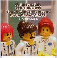 Code Brown common in GI nursing