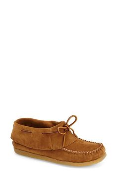 Eastland 'Casco 1955' Fringe Moccasin Bootie (Women) available at #Nordstrom