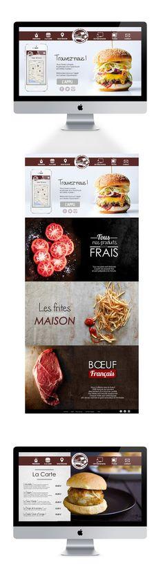 Webdesign foodtruck burger quality www.oliviarovere.fr #webdesign #app #foodtruck #burger