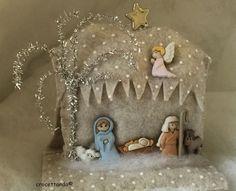 Nativity . Dress it up Ideazione e relizzazione di giuseppina ceraso   crocettando https://crocettando.wordpress.com/2015/10/21/dress-it-up-nativity/