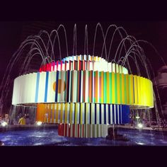 the fire + water fountain, also commonly referred to as the Dizengoff Square fountain, Tel Aviv by Yaacov Agam (1986)