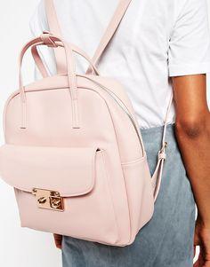 Image 3 ofASOS Front Lock Detail Backpack