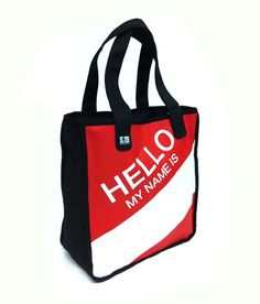 Hello My Name Is, Reusable Tote Bags, Google, Image, Shopping