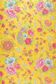 Ludmilla | Floral wallpaper | Wallpaper patterns | Wallpaper from the 70s