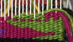 Intro to Tapestry Class: Eccentric Wefts, Outlining, and Weft Dance - Mirrix Tapestry & Bead Looms Weaving Loom Diy, Inkle Weaving, Weaving Tools, Weaving Projects, Weaving Art, Tapestry Weaving, Hand Weaving, Art Projects, Textiles